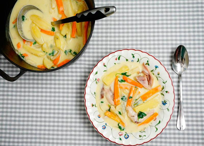 Суп из курицы ватерзой фото