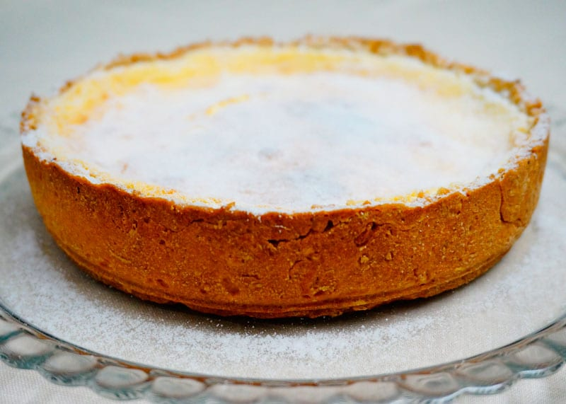 Тарт с лимонным суфле фото