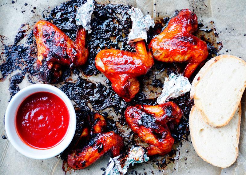 Куриные крылышки бурбон чикен рецепт фото