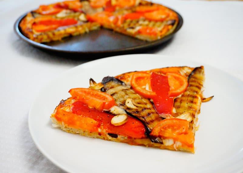 Пицца с баклажаном рецепт приготовления фото