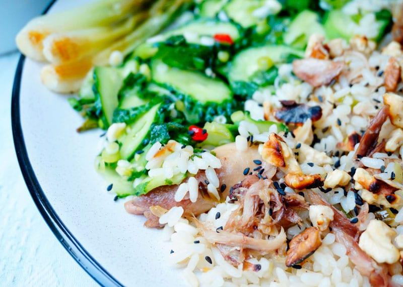 Рис с кусочками курицы в азиатском стиле рецепт фото