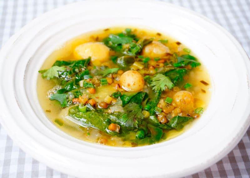 Лимонный суп с чечевицей рецепт фото