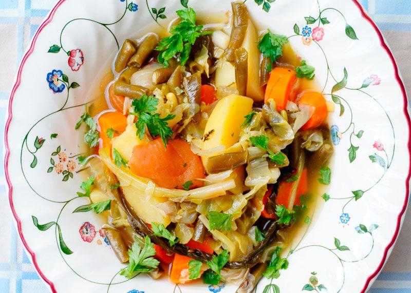 Овощное рагу стох гелах рецепт приготовления фото