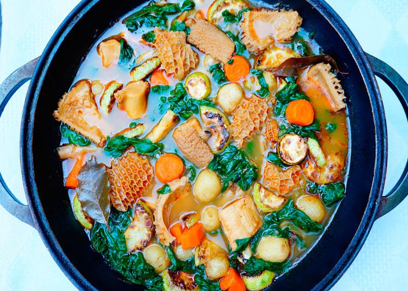 Суп из рубца и перца приготовление фото