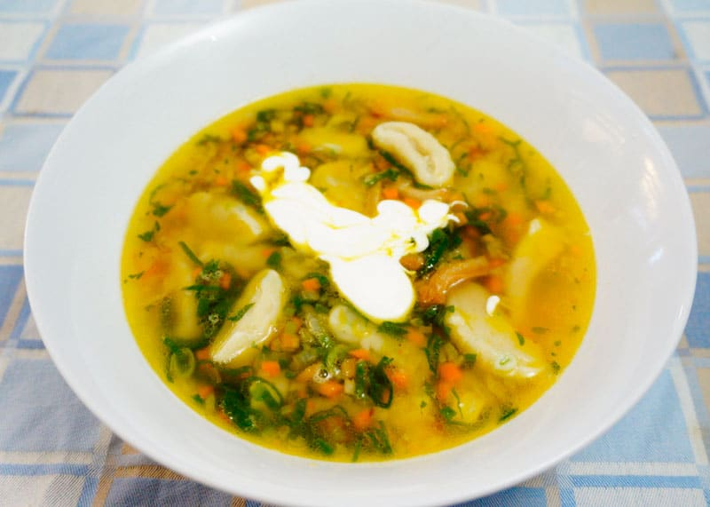 Суп с галушками рецепт фото