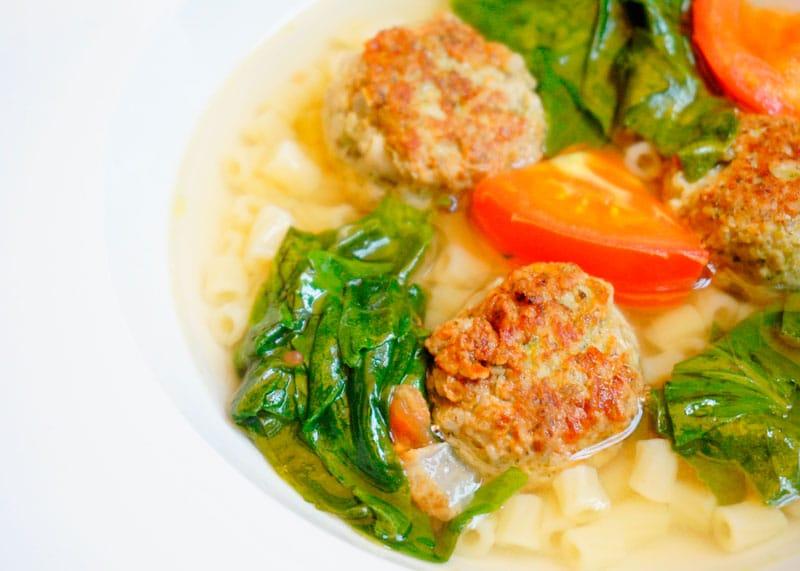 Итальянский суп с полпетте рецепт фото