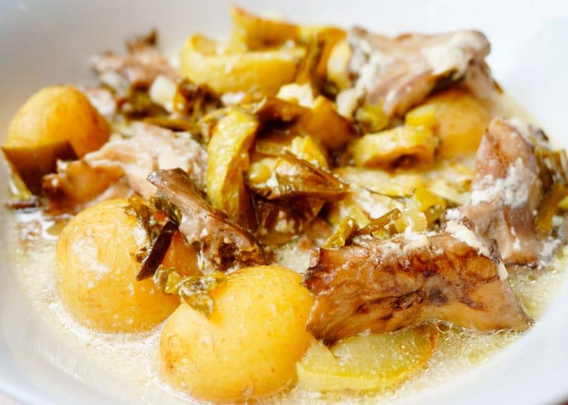 Картофель с лесными грибами рецепт фото