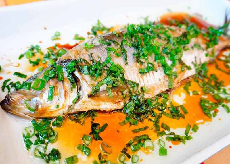 Рыба на пару с мятой рецепт фото