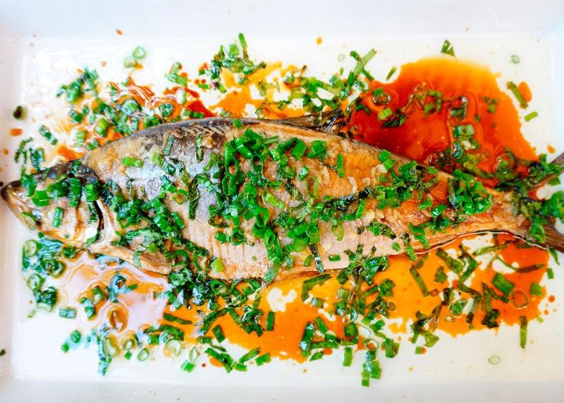 Рыба на пару с мятой фото