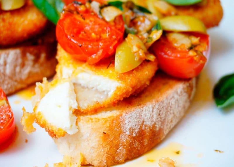 Бутерброды с жаренным сыром рецепт фото
