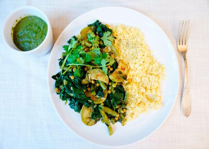 Овощное рагу с зеленым песто рецепт фото