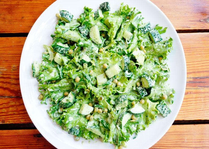 Самый зеленый салат от Джессики Батилана приготовление фото