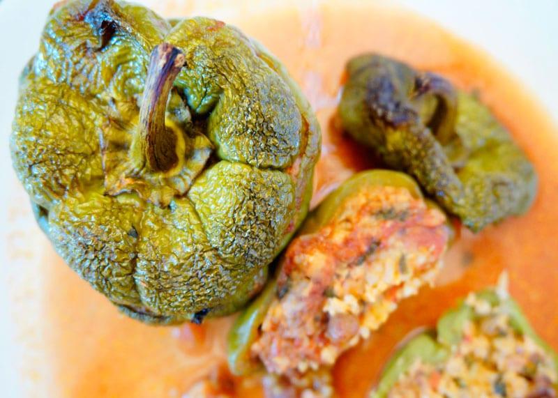 Сладкие перцы, фаршированные курицей рецепт приготовления фото