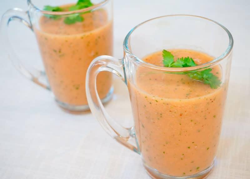 Томатный суп с персиками рецепт фото
