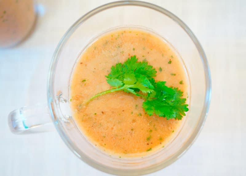 Томатный суп с персиками фото