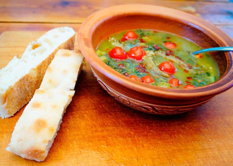 Суп с баклажанами и зеленью рецепт фото