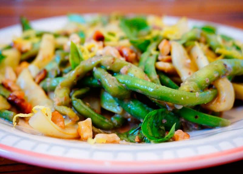 Зеленая фасоль с базиликом рецепт фото