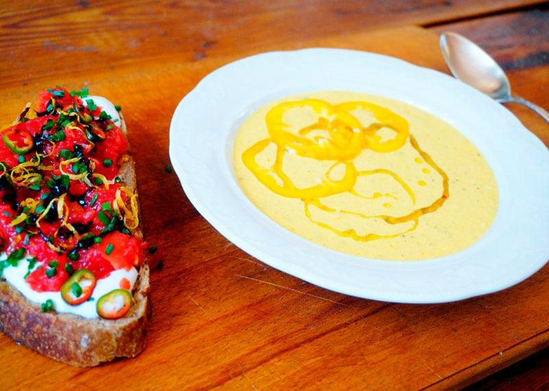 Крем-суп из перца и йогурта рецепт фото