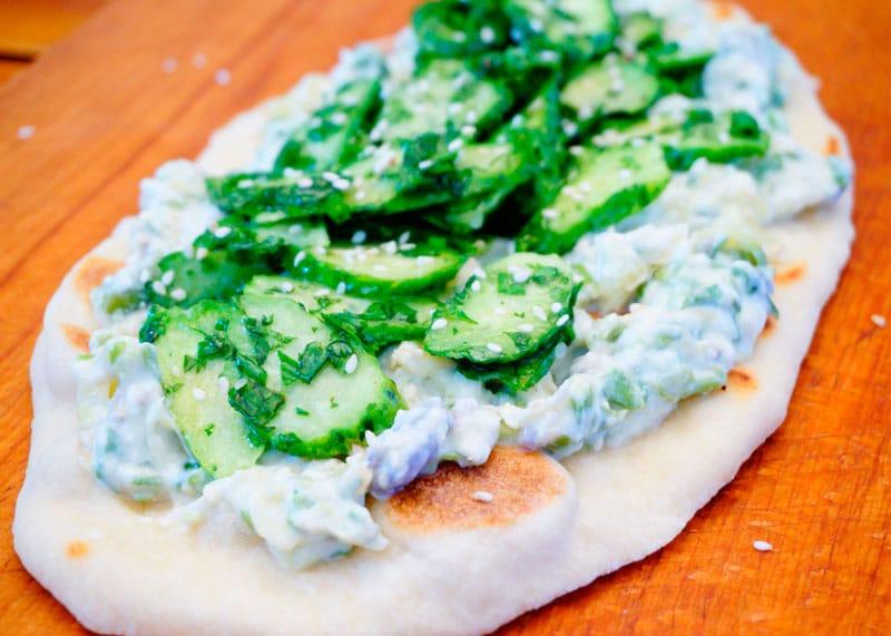 Лепешки наан с фасолью рецепт фото