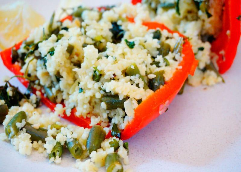 Перцы, начиненные зеленой фасолью рецепт фото