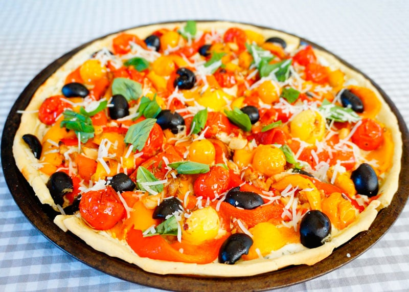 Рецепт Пицца с перцем фото