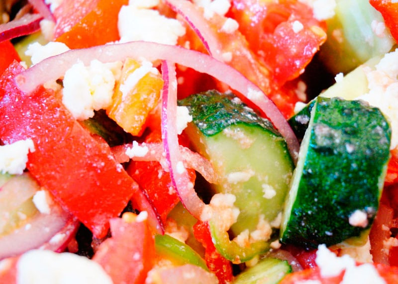 Шопский салат фото