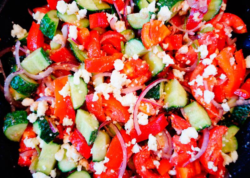 Шопский салат рецепт фото