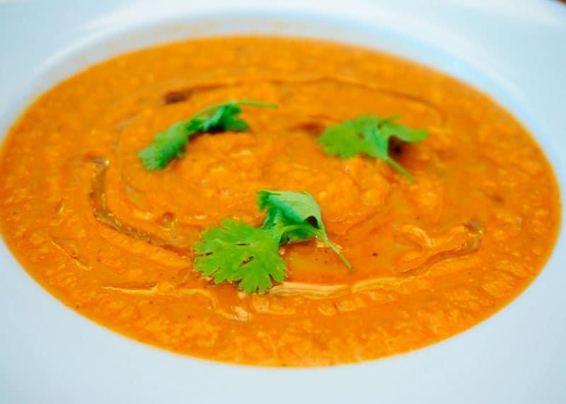 Суп из помидоров и баклажанов фото