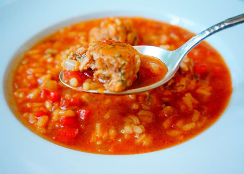 Томатный суп с ризотто рецепт фото