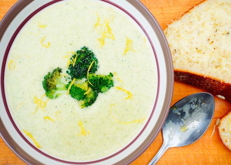 Картофельный суп с брокколи приготовление фото