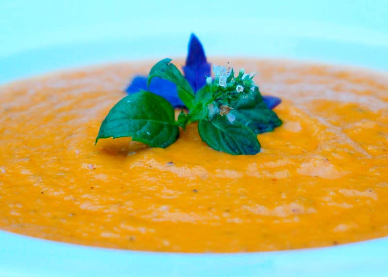 Крем-суп из помидоров и моркови фото