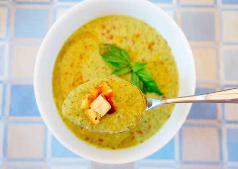 Суп пюре из цуккини и базилика рецепт фото