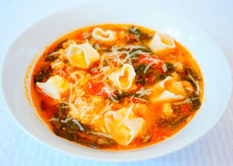 Томатный суп с тортеллини рецепт фото