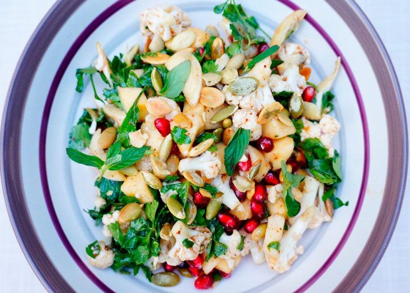 Рецепт салат из цветной капусты и яблок фото