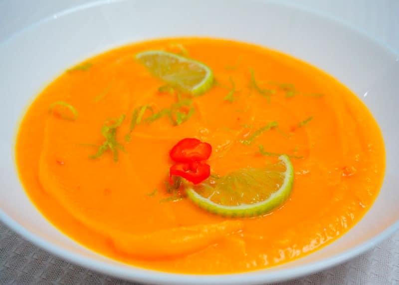 Крем-суп из тыквы и лайма фото