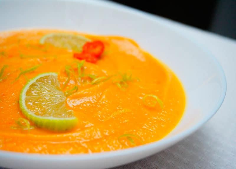 Крем-суп из тыквы и лайма рецепт фото