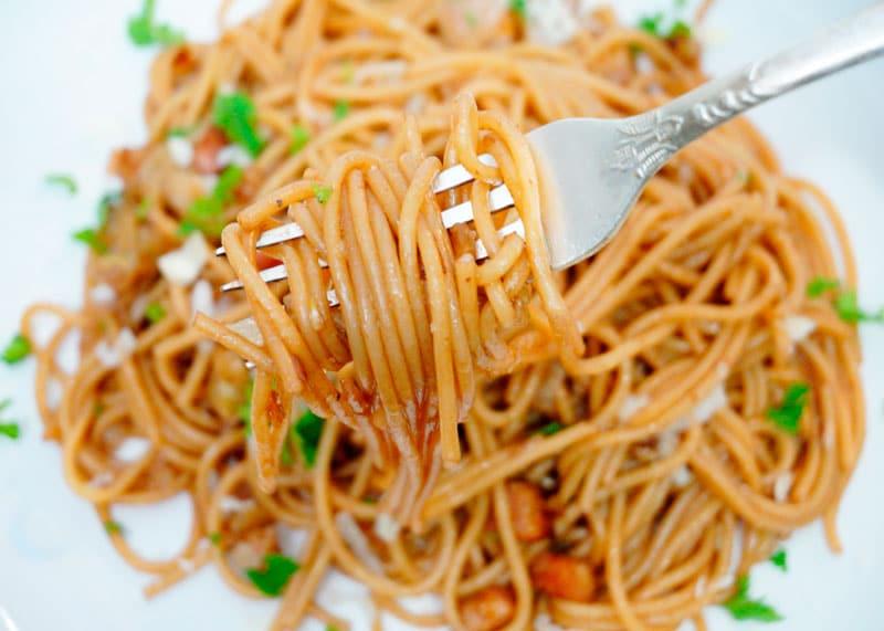 Пьяные спагетти рецепт фото