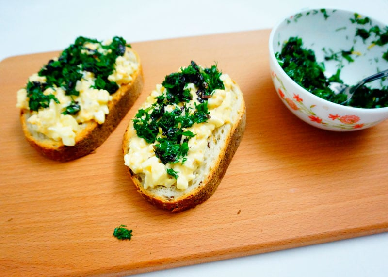 Яичные бутерброды фото