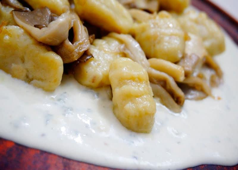 Ньокетти с грибами фото