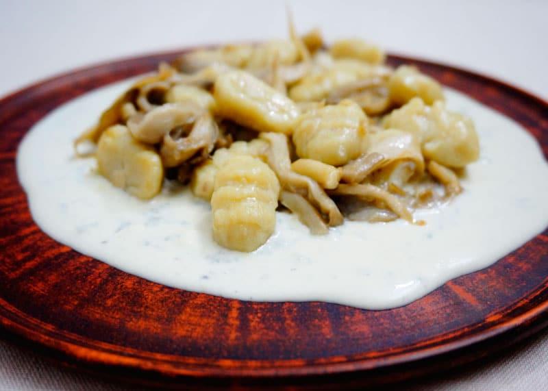 Ньокетти с грибами рецепт фото