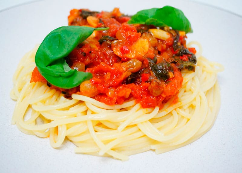 Спагетти по-сицилийски приготовление фото