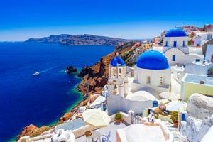 Санторини Греция фото