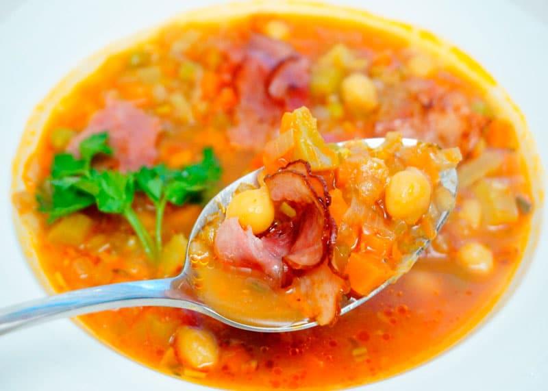 Французский суп с зеленым нутом рецепт фото
