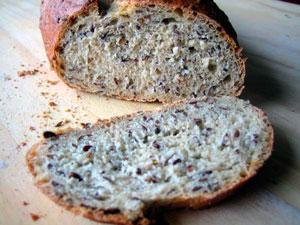 Хлеб со льном фото