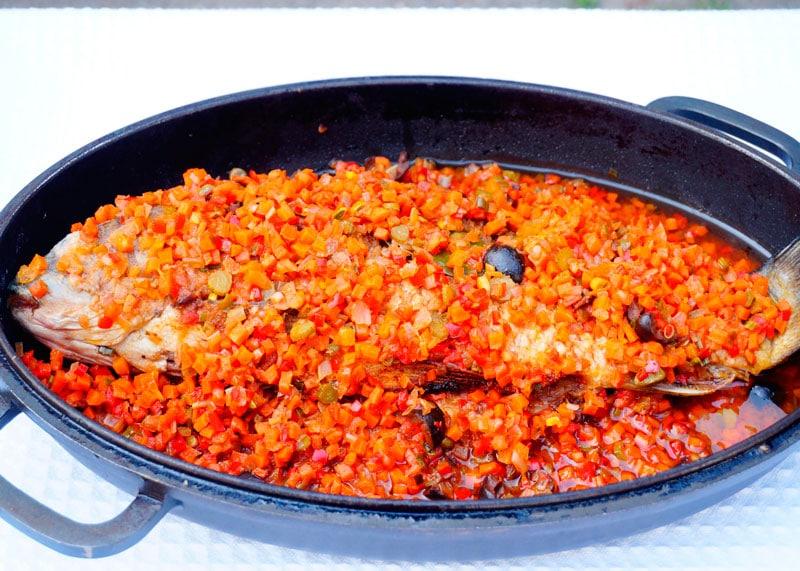 Жареная рыба в маринаде фото