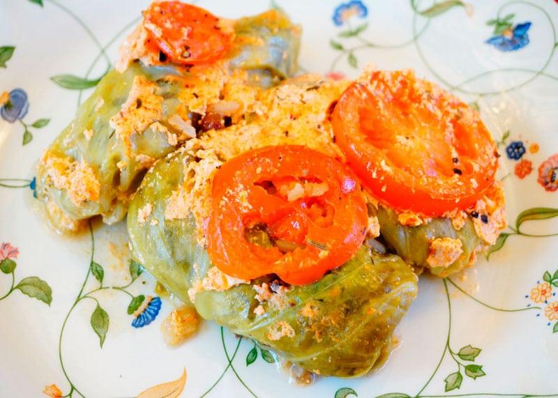 Голубцы с рисом и грибами рецепт приготовления фото