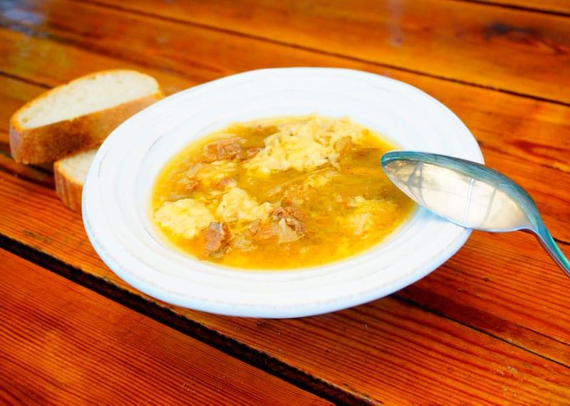 Луковый суп с говядиной рецепт фото