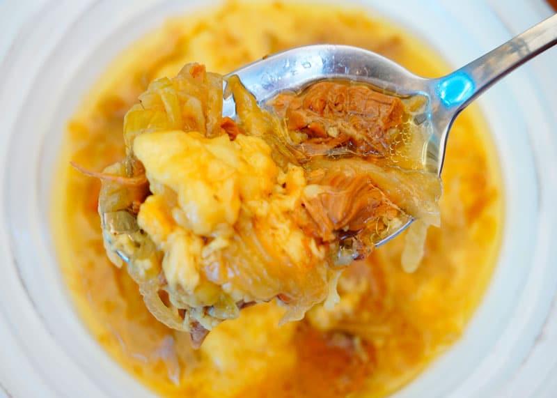 Луковый суп с говядиной приготовление фото