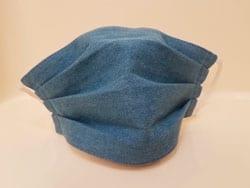 Маска из джинсовой ткани фото