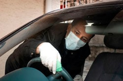 Уборка авто руль коронавирус фото